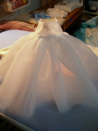 photo of doll-size petticoat